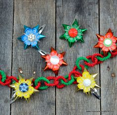 diy fast and easy vintage christmas light reflector hair pins my so called crafty life