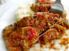 Old Fashioned Swiss Steak tomatoes green bell peppers Swiss Steak Recipes, Meat Recipes, Crockpot Recipes, Cooking Recipes, Minute Steak Recipes, Kale Recipes, Cuban Recipes, Crockpot Dishes, Leche Flan