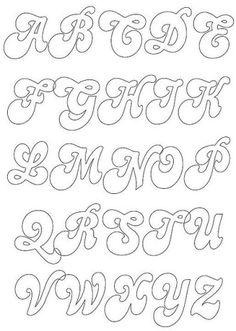 Sierlijk alfabet Maak je eigen naamslinger uit vilt aan de hand van deze…