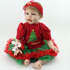 92.80$  Buy now - http://aliwtn.worldwells.pw/go.php?t=32786458936 - 22inch Silicone Reborn Doll Toys Lifelike Newborn Baby Doll 55CM Baby Doll Toys Playmate Baby Toys Boneca Bebe Reborn For Girl 92.80$