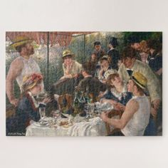 Luncheon of the Boating Party Renoir Painting Art Jigsaw Puzzle #jigsaw #puzzle #jigsawpuzzle William Adolphe Bouguereau, Richard Diebenkorn, Joan Mitchell, Mary Cassatt, Pierre Auguste Renoir, Impressionist Paintings, Impressionism, Verona, Claude Monet