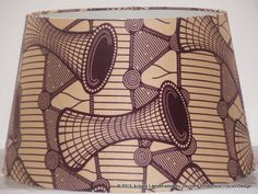 Large Brown Handmade Ankara / African Print by AnkaraLampshades, £40.00