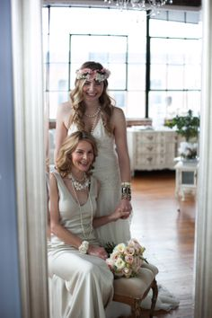 Beet & Yarrow Floral Design || Red Shoes Photography || Emma and Grace Bridal Studio || Mother Daughter