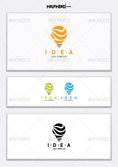 IDEA Logo Template — Vector EPS #modern #business • Available here → https://graphicriver.net/item/idea-logo-template/5512620?ref=pxcr