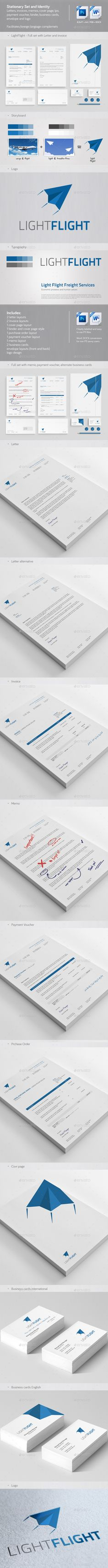 Clean & Modern Stationery, Invoice and Identity 2 Corporate Stationary, Corporate Identity, Cover Page Template, Envelope Design, Stationery Design, Cover Pages, Business Card Design, Letterhead Logo, Logo Design