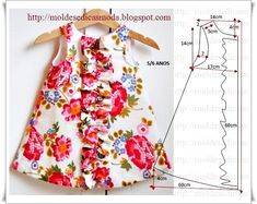 Fabric pattern: children dress - maomao - I heart action