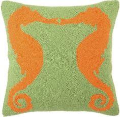 Seahorse - Facing Seahorses Hook Pillow