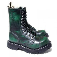 Steel Boots 10-loch grün