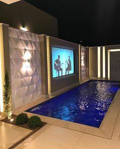 Small Backyard Pools, Small Pools, Backyard Gazebo, Luxury Homes Interior, Home Interior Design, Interior And Exterior, Pool House Designs, Backyard Pool Designs, My Pool