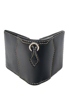 WC Leather & Cordovan Wallet- Black - Self Edge