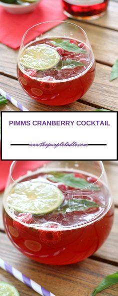 Pimms cranberry cocktail