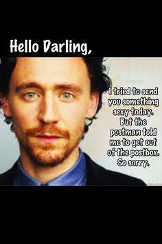 hello darling meme   Tom Hiddleston: Hello Darling...