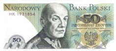 Projekty banknotu o nominale 50 złotych, z wizerunkiem Karola Świerczewskiego.