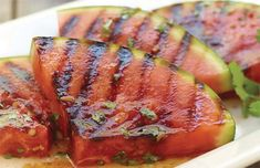 Grilled watermelon, yummy! Try it this summer!