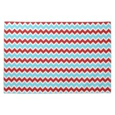 Cool Trendy Teal Turquoise Red Chevron Zigzags Kitchen Towel #kitchentowels #kitchen #towels #gifts #zazzle #MadeintheUSA #prettypatterngifts www.PrettyPatternGifts.com
