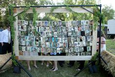Photos inside a larger frame for wedding photo display of the couple Wedding Save The Dates, Our Wedding, Dream Wedding, Chic Wedding, Wedding Bells, Wedding Stuff, Diy Wedding Flowers, Cute Wedding Ideas, Wedding Inspiration