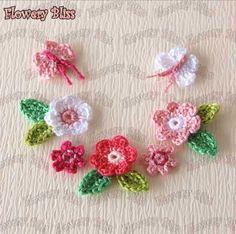 Crochet flower 30mm fbcb23 by flowerybliss on Etsy