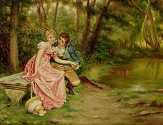 """The lovers""- Joseph Frederick Charles Soulacroix"