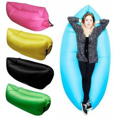 7 Color Inflatable Sofa Colorful Water-proof Folding Inflatable Sofa High Quality Outdoor Sleep Relaxation Air Sofa JCW117
