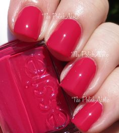 Essie ~ Haute in the Heat.  Love the color!  (The PolishAholic: Essie Summer 2014 Collection Swatches & Review)