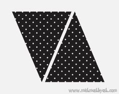 black polka dots banner