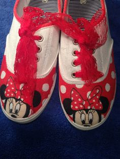 Minnie Mouse shoes by FantasyDesigner on Etsy