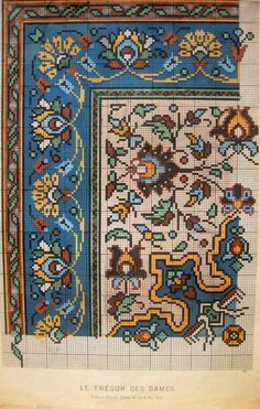 This Pin was discovered by Rom Cross Stitch Borders, Cross Stitch Flowers, Cross Stitch Designs, Cross Stitching, Cross Stitch Embroidery, Cross Stitch Patterns, Embroidery Patterns Free, Needlepoint Patterns, Vintage Cross Stitches