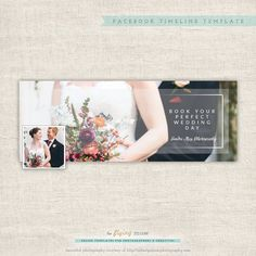 Facebook Timeline Cover - Timeline Cover Template - Facebook Wedding Photography Timeline Cover  - Timeline Template - INSTANT DOWNLOAD (10.00 USD) by theFlyingMuse