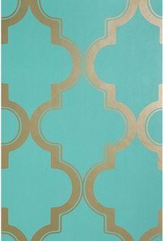 Lexie Cocktail table - metallic wallpaper