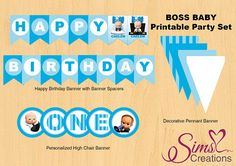 Boss Baby Birthday Printable Party Pack Boss Baby Birthday