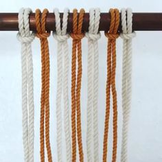 Custom Cords for macrame garments home textile by Suidhagga The Effective Pictures We Offer You About crochet tutorial A quality picture can tell you many. Macrame Wall Hanging Patterns, Macrame Art, Macrame Design, Macrame Projects, Art Macramé, Free Macrame Patterns, Yarn Wall Art, Diy Jewelry Unique, Knots