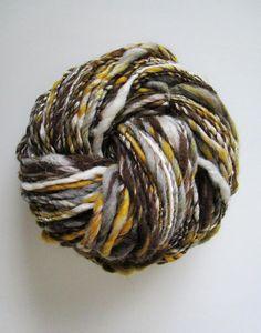 Handspun Yarn 'Gone Away From Me' Bulky Yarn Natural
