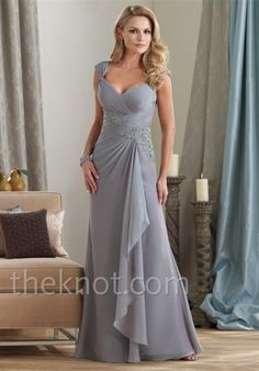 chiffon gown. Pretty mother of the bride gown?