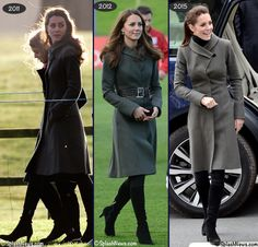 Kate in Reiss Angel Fit & Flare from a/w 2010 collection, wearing piece in 2011, 2012, 2015