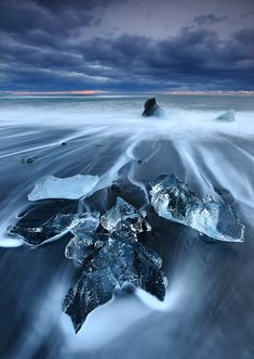 Turquoise Icebergs Dot Iceland's Black Sand Beach - My Modern Metropolis