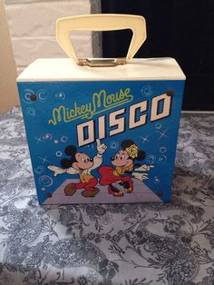 Today I am pleased to offer a very nice collection of a vintage Mickey Mouse Disco record tote along with 18 complete book with records. Most are