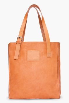 Woman By Common Projects Tan Leather Shopper Tote for Women   SSENSE