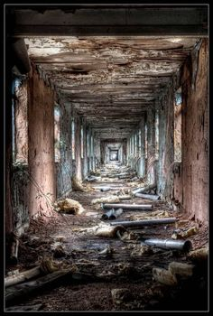 Amazing Snaps: Abandoned Houses | See more.   Amazing extended hallway,no end in sight!