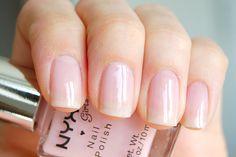 NYX Girls - Bella #nailpolish Clear Nail Designs, Popular Nail Designs, Nail Polish Designs, Cool Nail Designs, Clear Nail Polish, Pink Nail Polish, Clear Nails, Beautiful Nail Art, Nail Inspo