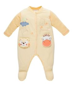 Look what I found on #zulily! Yellow Stripe 'My Little Friends' Footie by Chicco #zulilyfinds