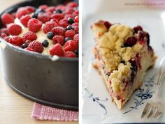 White Plate: Ciasto drożdżowe z kruszonką i malinami