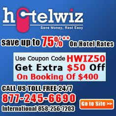 Discount On All Hotel Bookings! Save Up To 75% Off