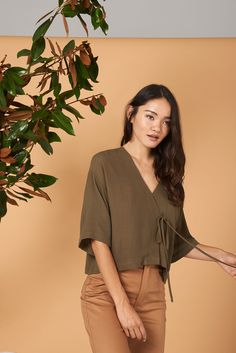 077137fa904c4e Taylr Top in Olive · Whimsy  amp  Row · Sustainable Clothing  amp   Lifestyle Brand