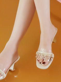 b282b6d38 Rhinestone Decor Open Toe Sandals
