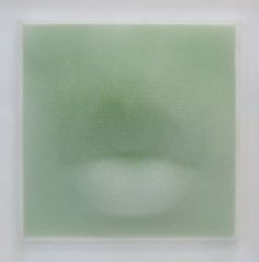sangSik Hong - green mouth Plastic Straws, acrylic approx 21 x 21 x 7 SOLD to private collector Custom Orders possible