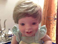 Elke Hutchens Fine Bisque Porcelain Collector's Doll Danbury Mint #DanburyMint #Dolls