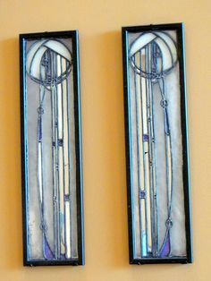 "Charles Rennie Mackintosh 5 by Universal Pops (back to 60%), via Flickr "" Using leaded glass,mirror glass and zinc,Makintosh created these two vertically oriented panels about 1905."""