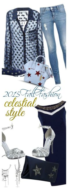 Celestial Fashion Style Trends for fall 2015. Jeans for casual. Dress for fancy. Add some jewelry and a sparkly ring and it's the perfect look for women of all ages.