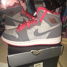 check out a7c0d 6a979 Jordan Shoes   Rare Jordan 1 High Top 5y   Color  Gray Silver   Size  5bb