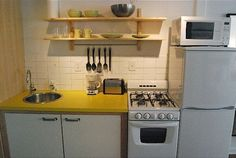 Ikea-equipped small kitchenette - needs a vertical drawer for stuff